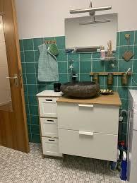 badezimmer garnitur waschtisch aufsatzwaschbecken stein