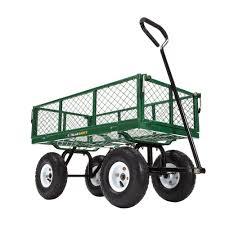 Gorilla Carts 400 lb Steel Utility Cart GOR400 The Home Depot