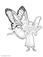 Barbie Butterfly Fairy Coloring Pages