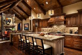 Whitefish Estate Rustic Kitchen Other by Hunter and