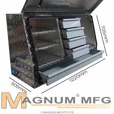 Buy Aluminium 5 Drawer Tool Box (1220 Mm Wide) Online From Magnum MFG The Tuff Truck Bag Is Just As Durable And Waterproof The Truck Tradesman 36 Alinum Mid Size Flush Mount Tool Box Bright Crossover Boxes Waterproof Pickup With Slim Black Best Resource Trinity In Job Site Graytxkpgr0502 Home Depot Checker Plate For Utes And Plastic Harbor Freight Kobalt 615in X 12in 13in Coat Rack Bed Toolbox Rod Hull Truth Building A Tool Box For 1990 Gmc Youtube