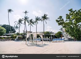 Wedding Venue Outdoor Ocean View Background White Cover ...