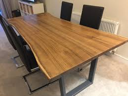 Shabby Chic Dining Room Table by Dining Room Live Edge Walnut Dining Table Room Furniture Bespoke