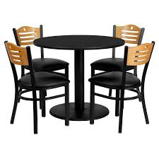 Flash Furniture 36'' Round Black Laminate Table Set With 4 Wood Slat Back  Metal Chairs, Black Vinyl Seat Flash Fniture 36 In Round Natural Laminate Table Set With 4 Black Tables A Chair Affair Inc Glass Top Lovely Kitchen And Chairs Lets Talk Linens The Ultimate Guide To Linen Sizes Party Product Categories Conway Rental Center 96 X 42 Banquet Wood Folding Metal Edging Offex Ladder Back And Vinyl Seat Ofre008bkfstdr Rentals Aaa Rents Event Services Chaps Time Bars Spokane