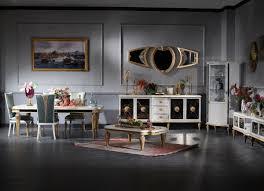 casa padrino luxus barock wohnzimmer esszimmer set türkis weiß gold barockmöbel