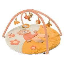 ludi tapis d éveil ours avec arches orange achat vente tapis
