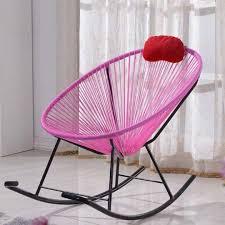 BN Rocking Chair☆Outdoor Patio Furniture Black/Pink ...