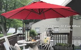 Sunbrella Patio Umbrellas Amazon by Amazon Com Abba Patio 10 Feet Offset Cantilever Umbrella Outdoor