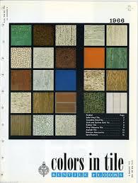 Asbestos Vinyl Flooring 1966 Kentile Floors Tile Colors In Catalog