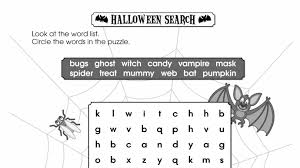 Haunted Halloween Crossword Puzzle Answers by 100 Halloween Word Search Grade 4 Educade Teaching Tool