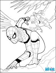 Spider Man Coloring Pages Superheroes Sheets Homecoming Page Spiderman Amazing Superhero