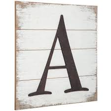 Whitewashed Wood Pallet Letter Wall Decor