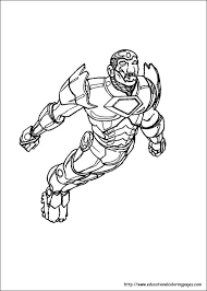 Iron Man Coloring Pages Free For Kids