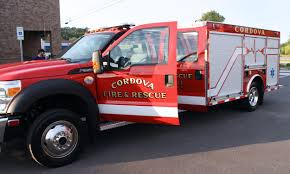 100 Cordova Truck Fire Departments New Rescue Truck Arrives Now In Service For City