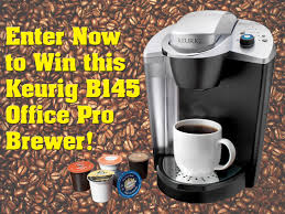 Premium Waters Is Giving Away A Keurig B145 Office Pro Brewing System And Two Boxes Of Coffee To One Lucky Winner