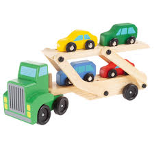 100 Loader Truck Shop Wooden Toy 2 Level Transporter Semi By Hey Play