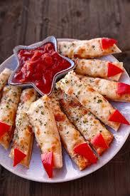 Halloween Hotdog Fingers by Appetizer Ideas