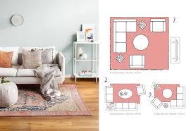 teppichgroesse bestimmen wohnzimmer teppich teppiche