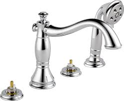 Dripping Bathtub Faucet Double Handle by Delta T4797 Lhp Cassidy Roman Bathtub Faucet With Hand Shower Trim