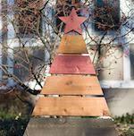 Rustic Christmas Tree Yard Art