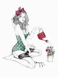 dessin pin up moderne pin up by elodie pin up dessin