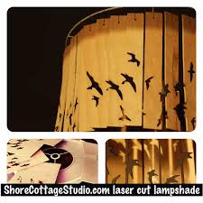 Laser Cut Lamp Shade by Three Things Finds U2013 Customised Laser Cut Bird Lampshade Shore