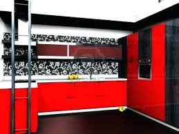 Full Image For Red Black Kitchen Decor Roller Blinds Cabinets With Glaze