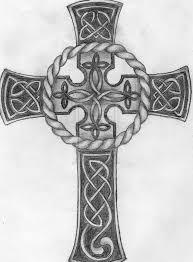 Grey Celtic Cross Tattoo Design Sample