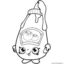 Cute Ketchup Shopkins Season 1 Coloring Pages