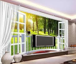 benutzerdefinierte 3d fototapete 3d fenster natur wandbild für wohnzimmer schlafzimmer tv hintergrund wasserdichte papel de parede