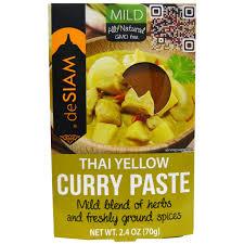 desiam pâte de curry jaune thaïlandaise douce 70 g 2 4 oz