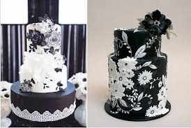black wedding cakes by Nevie Pie Cristina Rossi graphy and Ron Ben Israel for Martha