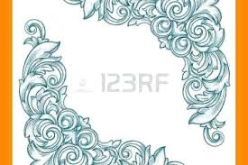 Smart More Border Designs Paper Cutting A Vector Olive Leaf Floral