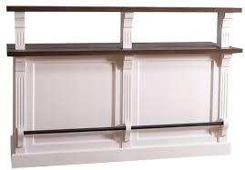 casa padrino landhausstil theke mit 3 schubladen weiß dunkelbraun 180 x 68 x h 120 cm landhausstil möbel