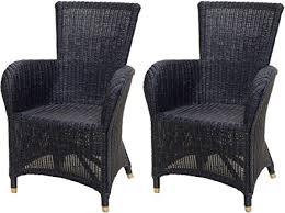 2er set bequemer esszimmer sessel mit hoher rückenlehne aus natur rattan rattanstuhl mit armlehne lounge stuhl rattansessel esszimmerstuhl 2er set