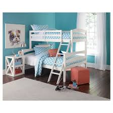 maddox bunk bed twin over full white dorel living target