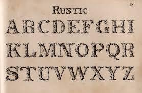Rustic Font Print