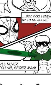 Spider Man Comic Coloring Page