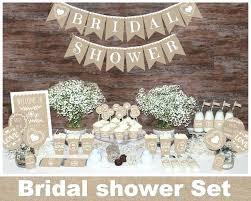 Rustic Bridal Shower Decorations Decors Burlap