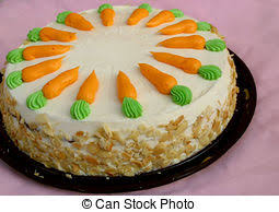 carrot cake decorated whole portioned carrot cake