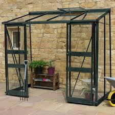 serre adossée 3 36m en verre trempé broadway verte greenhouses