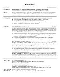 exle human resources manager resume objective cover letter