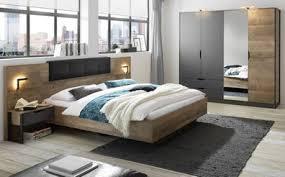 schlafzimmer set komplett eiche montana grau mit bett schrank 2x nachttisch galen