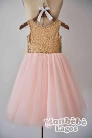V Back Champagne Gold Sequin Pink Tulle Flower girl dress by
