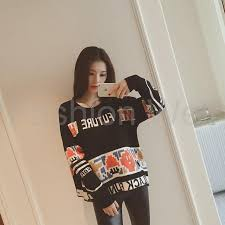 Sleeve Knitted Pullovers Women Vintage Sweater Fashion Loose O