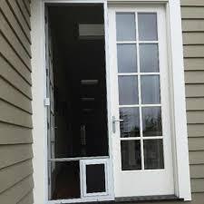 Doggie Doors For Sliding Patio Doors by Outside Doors With Doggie Door Retractable Screen Doors For
