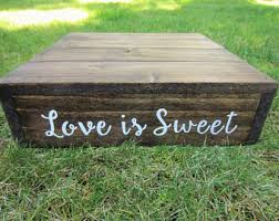 Love Is Sweet Cake Stand Custom