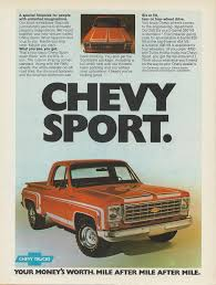 1976 Ad Chevy Chevrolet Big-10 Fleetside Farmer Six Advertisement ...