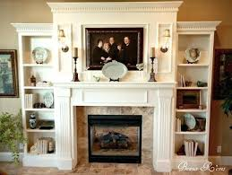 fireplace bookshelves ideas tv shelf bookcase plans living room