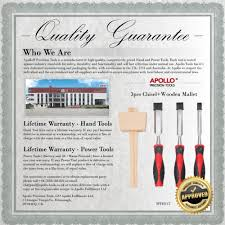 apollo precision tools 3pcs chisel wooden mallet amazon co uk